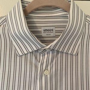 ARMANI COLLEZIONI | Striped Collar Button Down